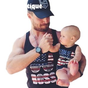 American style brand design cotton family look baby boy father family t shirt