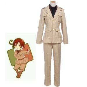 Anime APH Cosplay Costumes Axis powers Ludwig Cosplay Costumes Italy Military Uniform