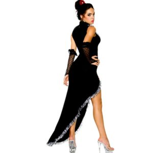 Ballroom Dance Dress Samba Costume For Women Sexy Solid Salsa Dresses with Tassels Latin Dress