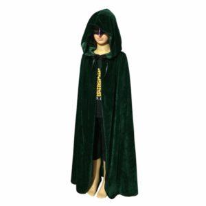 Child Hooded Velvet Cape Cloak Halloween Fancy Dress Robe Costume