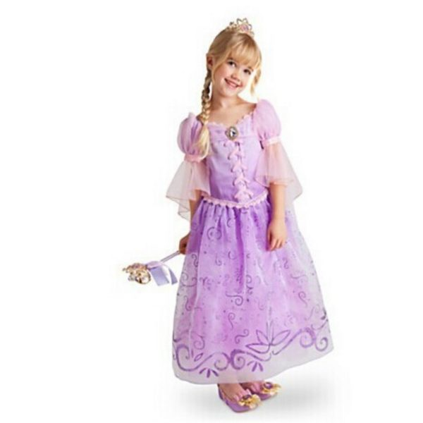 Children Kids Cosplay Dresses Rapunzel Costume Princess Wear Perform Clothes