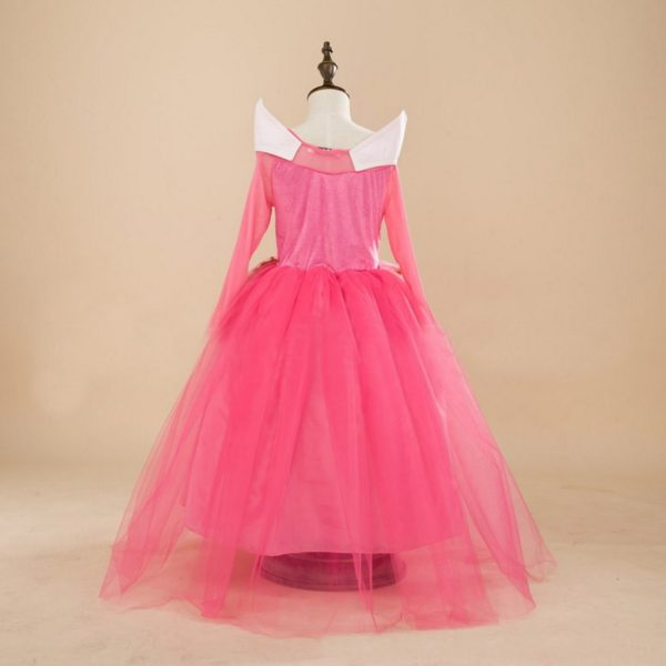 Christmas Gift Fairy Princess Sleeping Beauty Aurora Ball Gown For Girls Halloween Cosplay Costume Kids Party Wear Tulle Dress