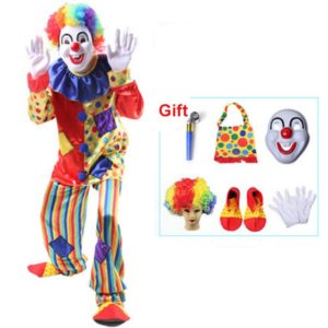 Circus Clown Costume Naughty Harlequin Uniform