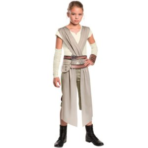 Classic Star Wars The Force Awakens Rey Fancy Dress Girls Movie Charater Carnival Cosplay Halloween Costume
