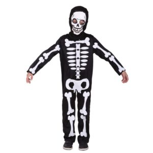 Cosplay Ghost Costume Party Clothing for Kids Knitted Black Hooded Robe Skull Costumes