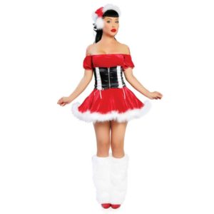 Costume for Women Red Christmas Costume Short Sleeve Sexy Costume for Christmas