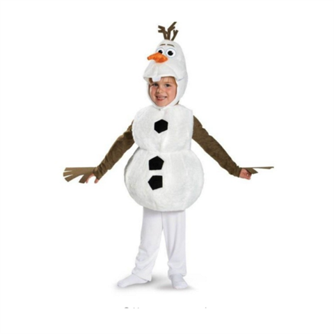 Cute Toddlers and Kids Deluxe Olaf Movie Cosplay Clothing Child Halloween Carnival Party Fancy Dress Costumes