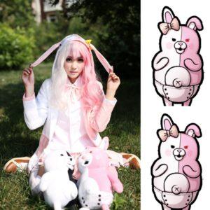 Danganronpa Monomi Cosplay Costume Pink and White