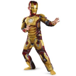 Genuine Kids Avengers Iron Man Mark 42 Patriot Muscle Child Halloween Costume Boys Marvel Movie Superhero Cosplay Clothing