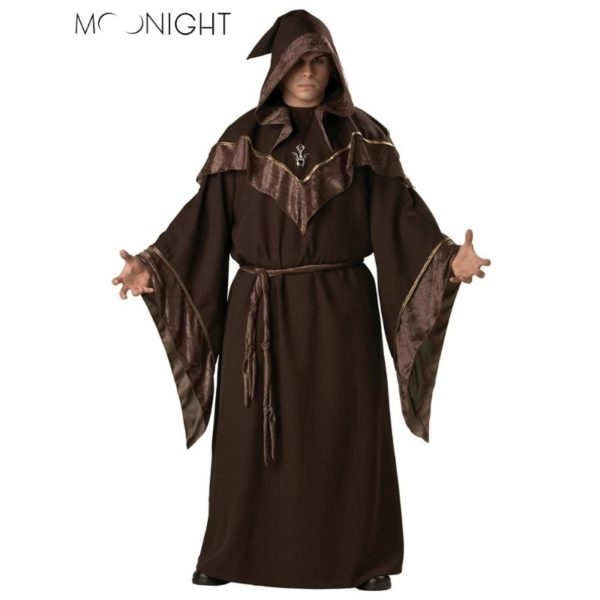 Gothic Wizard Costume European Religious Men Priest Uniform Fancy Cosplay Costume for Men