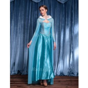 e9a9346affd7 ... Halloween Costumes For Women Adult Snow Queen Costume Cosplay Party  Formal Dress Blue