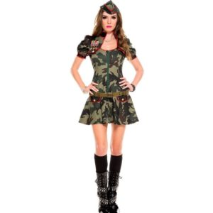 Halloween Sexy Party Costumes Soldier Women Dress Camouflage Color