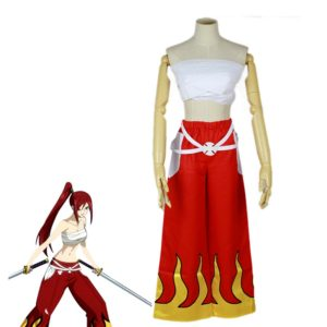 Japanese Anime Halloween Fairy Tail Erza Scarlet Cosplay Costume For Women