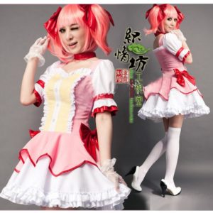 Japanese anime Madoka Kaname princess skirt Maid costume Best quality cosplay costume. Buy 2 Get 1 Free. Free delivery. -