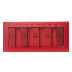 KOREAN COSMETICS [3CE] Red Recipe Lip Color Mini Kit