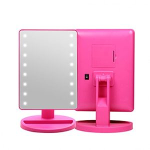 KOREAN COSMETICS [CORINGCO] Pink Bling Bling LED Touch Mirror (Hot Pink)