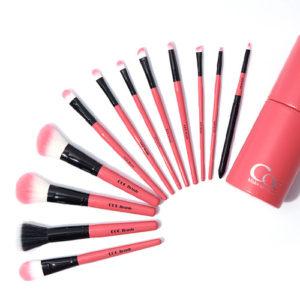 KOREAN COSMETICS [CORINGCO] Pink in Pink Make up Brush 12P SET