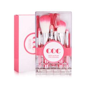 KOREAN COSMETICS [CORINGCO] Takeout Brush Kit Make Up Brush Pink Collection