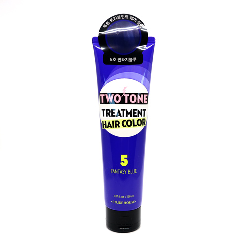 KOREAN COSMETICS [Etude house] Two Tone Treatment Hair Color #05 (Fantasy Blue)