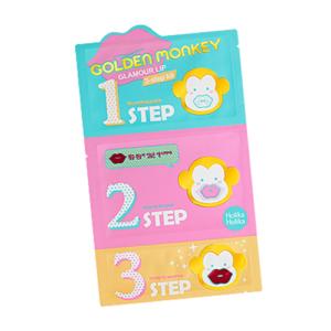 KOREAN COSMETICS [Holika Holika] Golden Monkey Glamour Lip 3-Step Kit 1EA