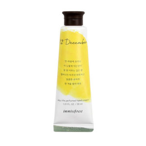 KOREAN COSMETICS [Innisfree] Jeju Life Perfumed Hand Cream 30ml #12 December