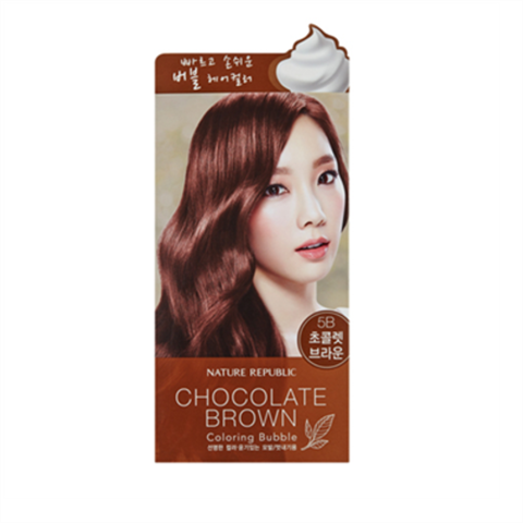 KOREAN COSMETICS [Nature Republic] Hair and Nature Coloring Bubble Chocolate Brown