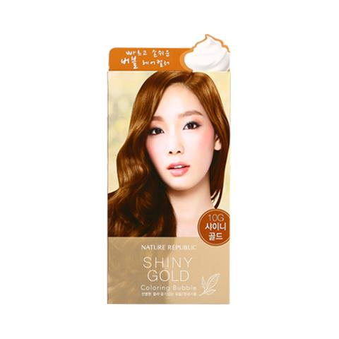 KOREAN COSMETICS [Nature Republic] Hair and Nature Coloring Bubble Shiny Gold