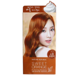 KOREAN COSMETICS [Nature Republic] Hair and Nature Coloring Bubble Sweet Orange
