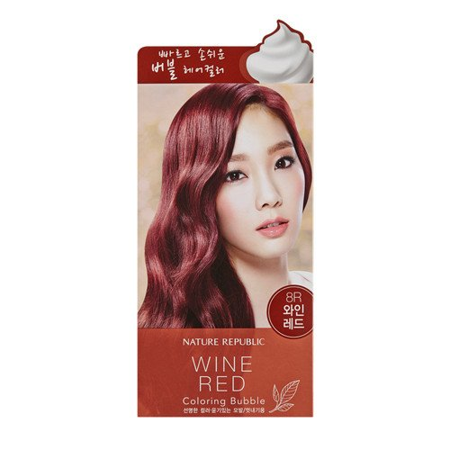 KOREAN COSMETICS [Nature Republic] Hair and Nature Coloring Bubble Wine Red