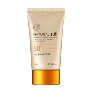 KOREAN COSMETICS [The face shop] Natural sun eco power long lasting Sunblock SPF 50+ pa+++ 50ml