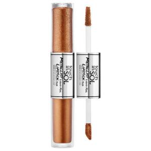 KOREAN COSMETICS [Touch in SOL] Metallist Liquid Foil Lipstick Duo #1 (Lola)