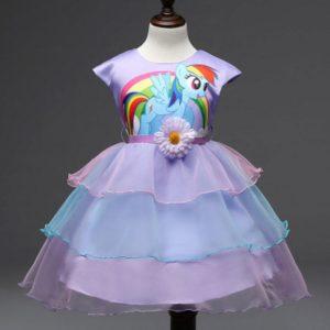 Kids Girls Dress Little Pony Spring Girl Short sleeve Dresses