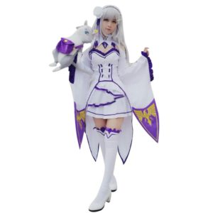 Life in a different world from zero Emilia Cosplay Costumes