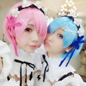 Life in a different world from zero Rem Ram Cosplay Wigs