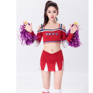 Little girl Cheerleaders Costume Party Play cheerleader clothes