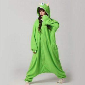 Monsters University cartoon sleepwear monocular strange piece pajamas cosplay