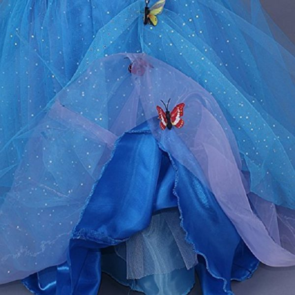 New Girls Movie Cosplay Costume Fairy Cinderella Princess Dress Fancy Bows Party Performances Dresses kids