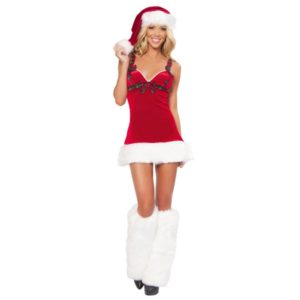 New Year Winter Santa Claus Christmas Costumes For Women Christmas Party Dress Stage Uniforms Temptation Cosplay