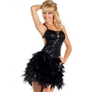 Performance Wear Sequins Latin Dance Dress Women Ballroom Dresses Party Costume Tutu Dresses