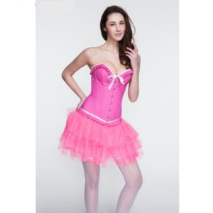 Pink Sexy Gothic Corsets and Bustiers Corpetes Corselet Shaper Belt Body Shapers for Women