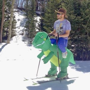Purim Costumes Airblown Fan Operated T-Rex Inflatable Dinosaur Suit Outfit Costume