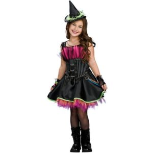 Red Black Witch Costume Girls Cosplay Christmas Halloween Fancy Dresses