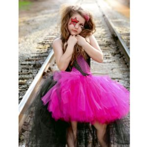 Rockstar Queen Girls Dress Birthday Outfit Photo Prop Halloween Costume Little Girl Tutu Dress Funking Girls Dresses