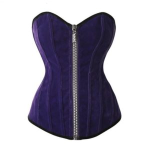 Sexy Corset Woman corselet Solid Overbust blue and red Corsets And Bustiers