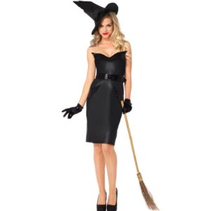 Sexy Mistress of Darkness Gothic Witch Costume Women Carnival Adult Cosplay
