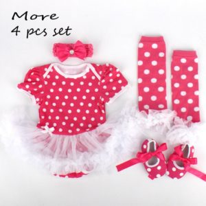 Summer style baby girl clothes Cotton infant clothing set baby tutu set include headwear leg warmer shoes