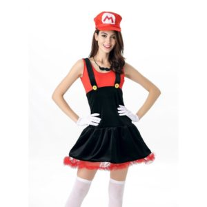 Super Mario Costume for Halloween Carnival Costume Adults Women Anime Cosplay
