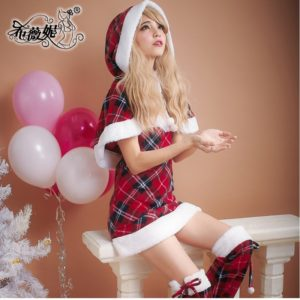 Sweet autumn and winter princess cosplay christmas women's cape santa claus clothes