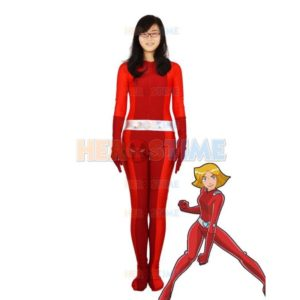 Totally Spies! Clover Red lycra Spies Superhero Costume