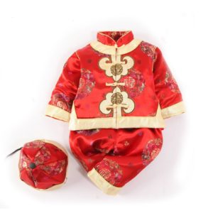 Traditional Chinese Clothing beautiful embroidery baby-snowsuit tang suit snow wear romper set